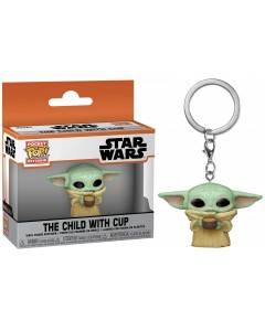 Star Wars : The Mandalorian - Pop! Pocket - porte-clé The Child with Cup