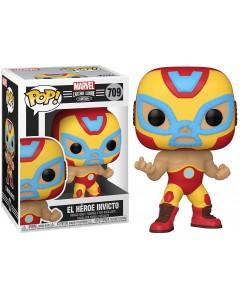 Marvel - Pop! Lucha Libre - Iron Man El Héroe Invicto n°709