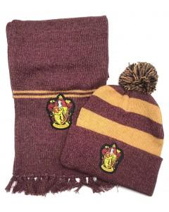 Harry Potter - Set bonnet et écharpe Gryffindor