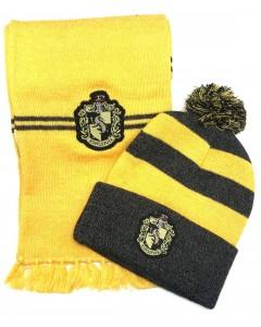 Harry Potter - Set bonnet et écharpe Hufflepuff