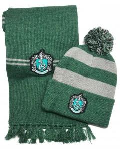 Harry Potter - Set bonnet et écharpe Slytherin