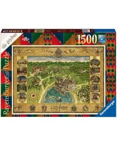 Harry Potter - Puzzle 1500 pièces Hogwarts Map