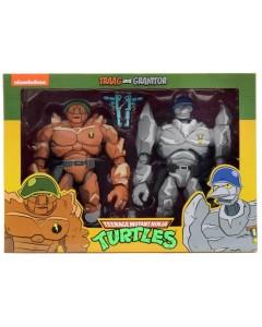 Tortues Ninja - TMNT - Pack 2 figurines Tragg & Grannitor 18 cm