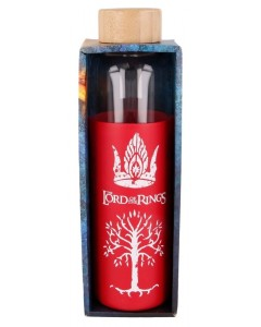 Lord of the Rings - Bouteille en verre 585 ml avec étui silicone