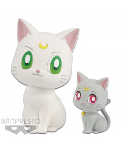 Sailor Moon - Figurine Fluffy Puffy - Artemis & Diana 4 et 7 cm