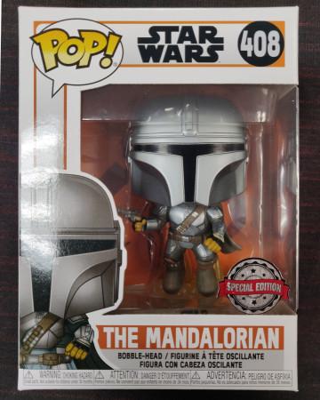 Star Wars : The Mandalorian - Pop! - Mando Jetpack Flying n°408 exclusive