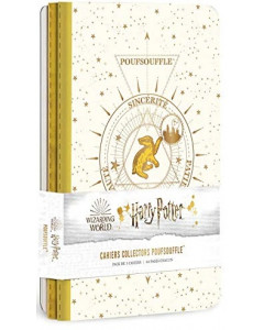 Harry Potter - Constellations - Pack de 3 cahiers Poufsouffle (Hufflepuff)