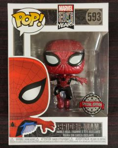 Marvel - Pop! - 80th : 1st Appearance Spider-Man n°593 Metallic exclusive