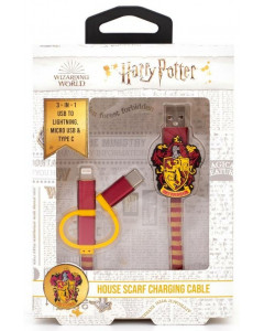 Harry Potter - Cable de chargement 3-1 Gryffindor