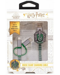 Harry Potter - Câble de chargement 3-1 Slytherin