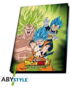 Dragon Ball - Carnet A5 Broly vs Goku & Vegeta
