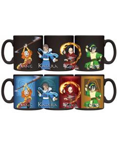 Avatar : The Last Airbender - Mug thermo-réactif Aang, Katara, Toph et Zuko