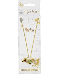 Harry Potter - Collier et boucles d'oreilles Honeydukes