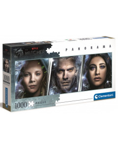 The Witcher - Puzzle 1000 pièces Panorama Ciri, Geralt & Yennefer