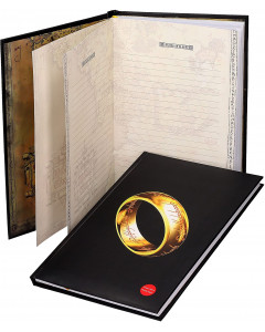 Lord of the Rings - Carnet lumineux Anneau Unique (19 x 29 cm)