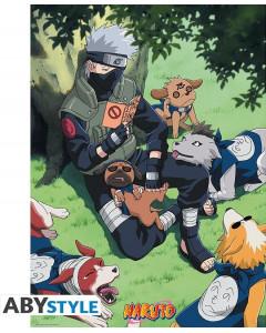 Naruto - Poster Kakashi et ses chiens 52 x 38 cm