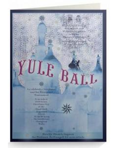 Harry Potter - Carte de voeux métallisée Yule Ball