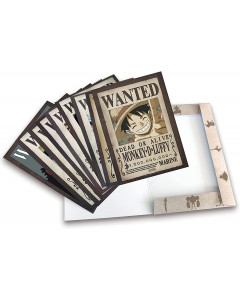 One Piece - Portfolio 9 posters wanted Luffy's crew Wano (21 x 29,7cm)