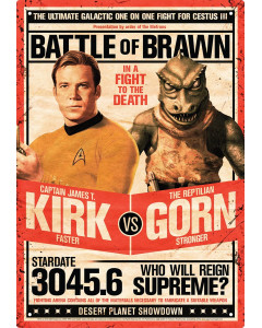 Star Trek - Poster plaque métallique Kirk vs Gorn