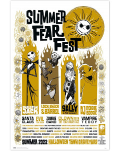 Nightmare Before Christmas - Grand poster Summer Fear Fest (61 x 91,5 cm)
