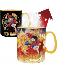 One Piece - Mug thermo-réactif Luffy & Sabo