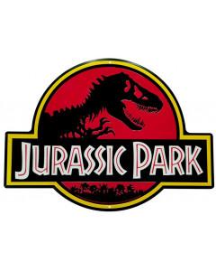 Jurassic Park - Plaque métal Logo 28 x 38 cm