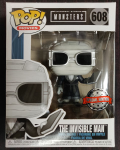 Universal Monsters - Pop! - Invisible Man Black & White n°608 exclusive
