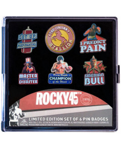 Rocky - Set de 6 pins 45th Anniversary Limited Edition