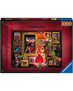 Disney - Puzzle 1000 pièces Villains : Queen of Hearts (Reine de Coeur - Alice)