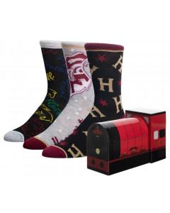 Harry Potter - Set de 3 paires de chaussettes dans boîte Hogwarts Express