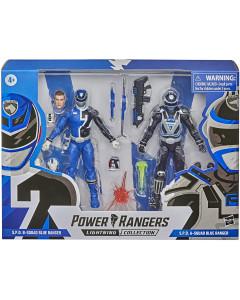 Power Rangers - Figurines Lightning Collection - Squad B Blue Ranger et Squad A Blue Ranger