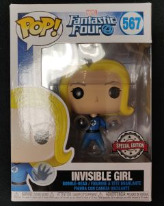 Marvel - Pop! Fantastic Four - Invisible Girl Translucent n°567 exclusive