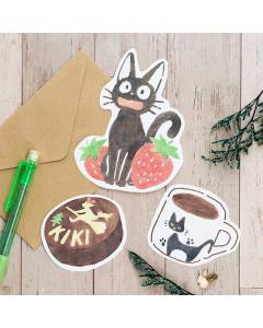 Kiki la petite Sorcière - Set papier à lettres à découper Kiriko Café