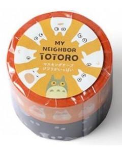 Mon Voisin Totoro - Set de 2 rouleaux Noiraudes et Totoro blanc