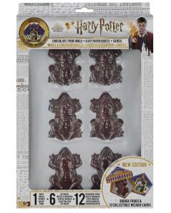 Harry Potter - Moule à Chocogrenouille en chocolat + 6 boîtes + 6 cartes