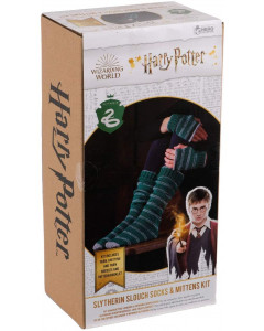 Harry Potter - Kit tricot chaussettes et mitaines Slytherin (instructions en anglais)