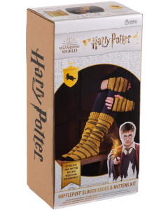 Harry Potter - Kit tricot chaussettes et mitaines Hufflepuff (instructions en anglais)