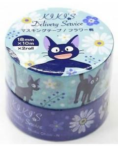 Kiki la petite Sorcière - Set de 2 rouleaux masking tape Jiji bleu