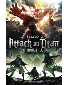 Attack on Titan - grand poster Key Art Season 2 (61 x 91,5 cm)