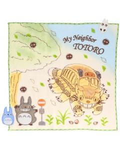 Mon voisin Totoro - Serviette Course du Chatbus 25 x 25 cm