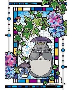 Mon Voisin Totoro - Puzzle Vitrail 126 pièces Jardin d'hortensias