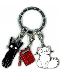 Kiki la petite Sorcière - Porte-clé métal Jiji, Lili et radio