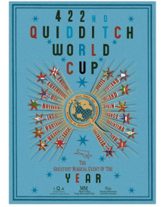 Harry Potter - Poster 422nd Quidditch World Cup 50 x 69 cm