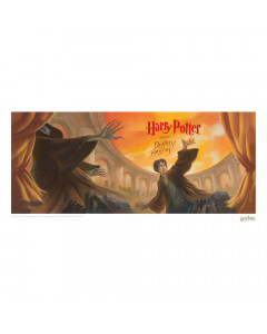 Harry Potter - Affiche lithographie Deathly Hallows Book Cover 42 x 30 cm