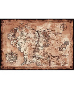Lord of the Rings - grand poster Map (61 x 91,5 cm)