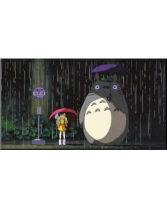 Mon voisin Totoro - poster en bois laminé Arrêt de Bus 37,5 x 20,5 cm