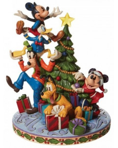 Disney - Traditions - Statue Fab 5 Decorating the Tree