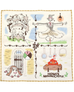 Le Château Ambulant (Howl's Moving Castle) - Serviette Habitants 25 x 25 cm