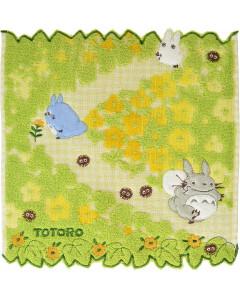 Mon voisin Totoro - Serviette Fleurs Jaunes 25 x 25 cm