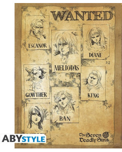 The Seven Deadly Sins - Poster Wanted 52 x 38 cm